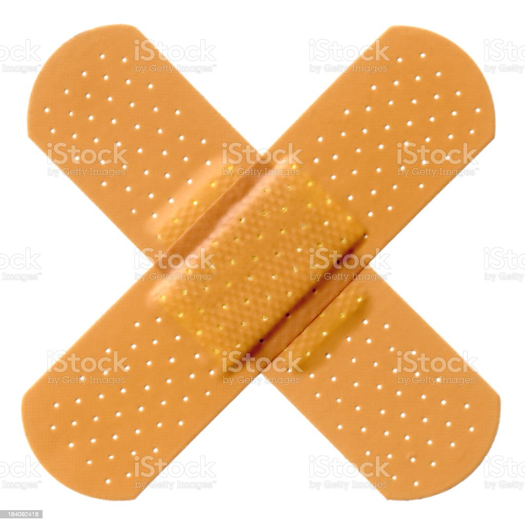 Cross Bandaid stock photo