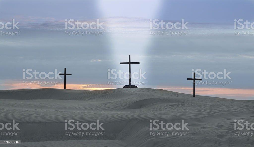 Cross Beam Of Light royalty-free stock photo