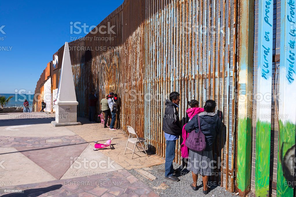 Cross border family meetings stock photo