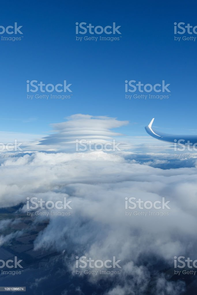 Cross country gliding in Scotland stock photo