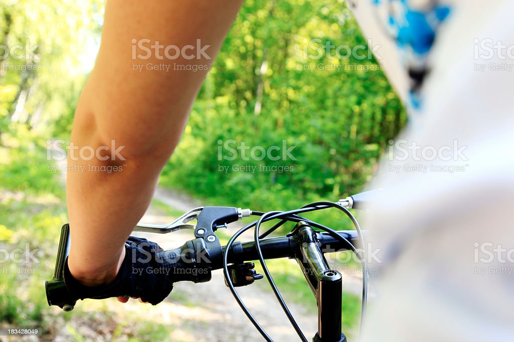 Cross country mountain biking royalty-free stock photo