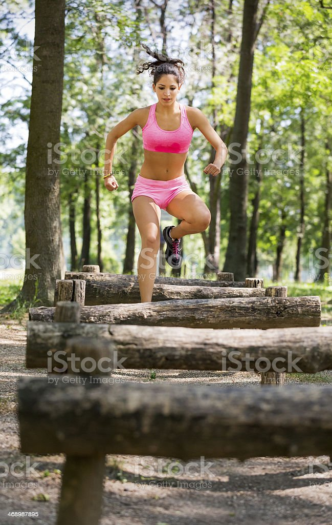 Cross country royalty-free stock photo