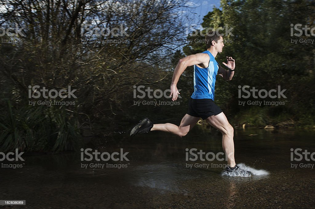 Cross Country Running royalty-free stock photo