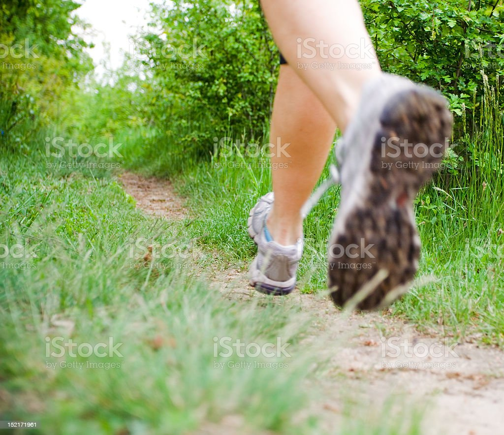 Cross country running series... royalty-free stock photo