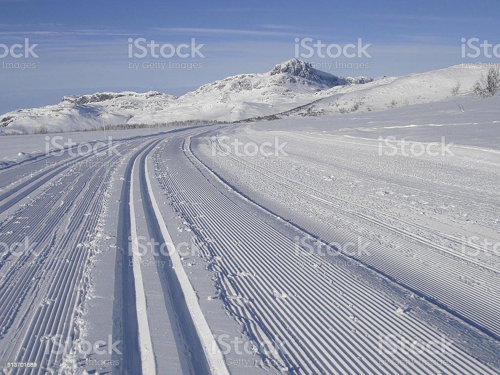 Cross country ski slopes stock photo