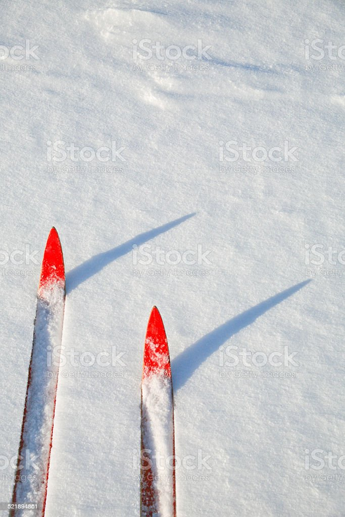 Cross Country Skiing, Barrie, Ontario, Canada stock photo