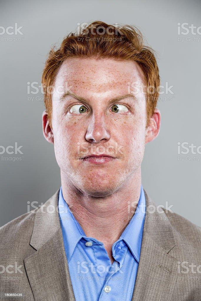 Cross Eyed Businessman stock photo