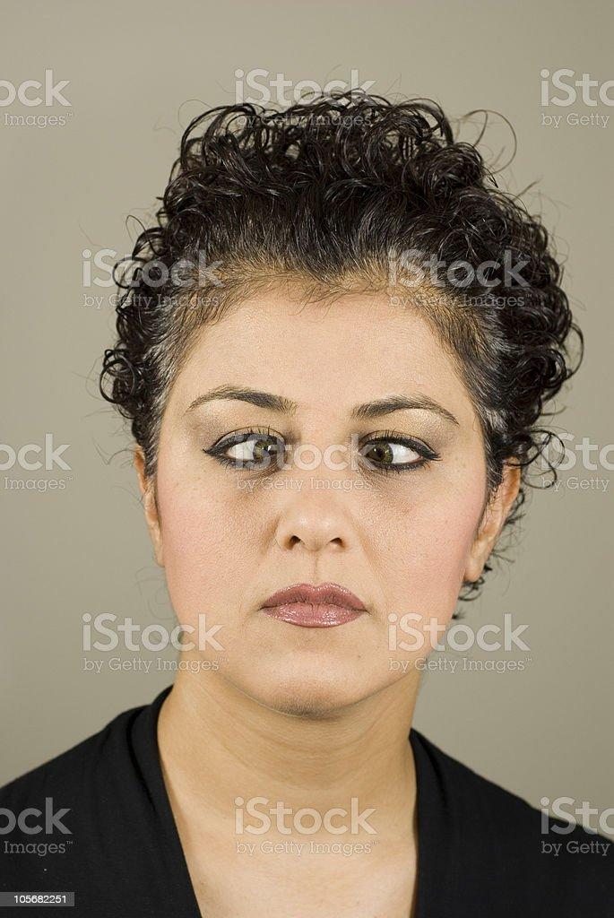 Cross Eyed Woman royalty-free stock photo