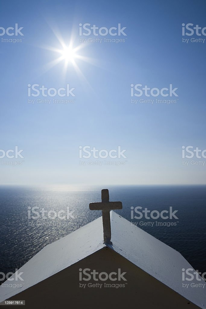 cross in backlight royalty-free stock photo