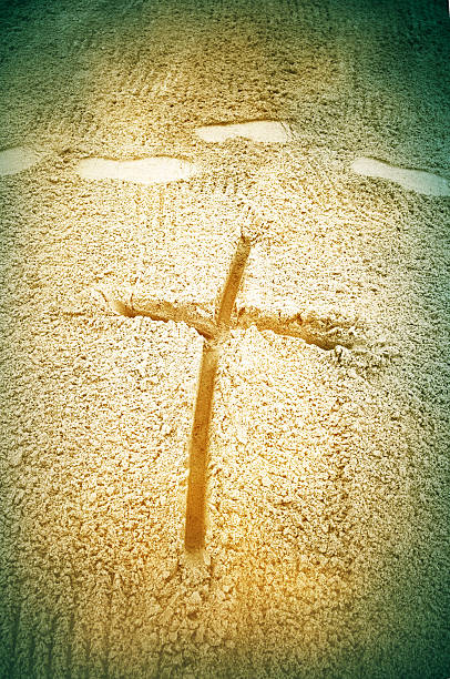 Kreuz in sand – Foto
