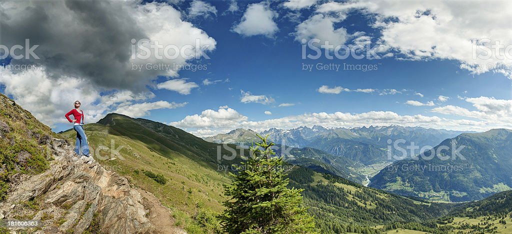 Cross in sight royalty-free stock photo
