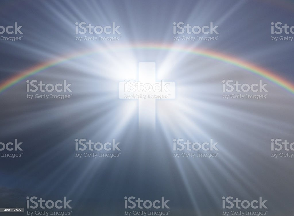 Cross in sky royalty-free stock photo