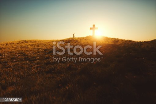 Cross in the desert.
