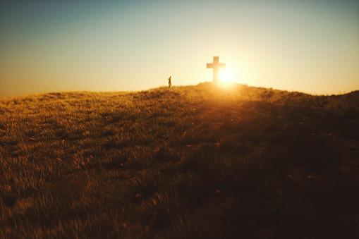 Cross in the desert.