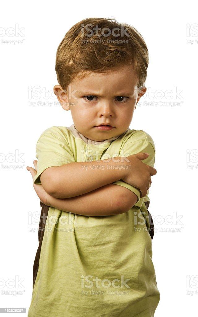 Cross little Caucasian boy royalty-free stock photo