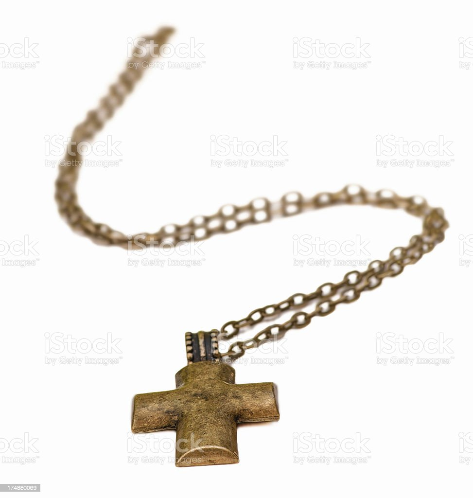 Cross Necklace royalty-free stock photo