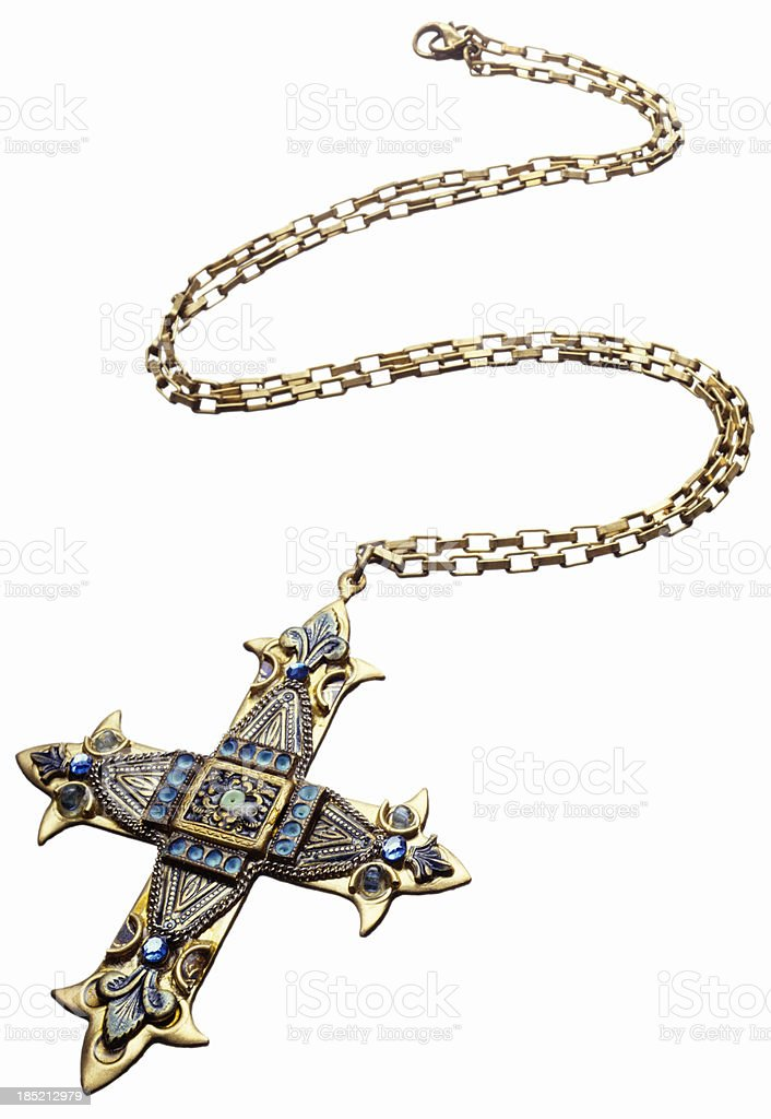 cross necklace stock photo