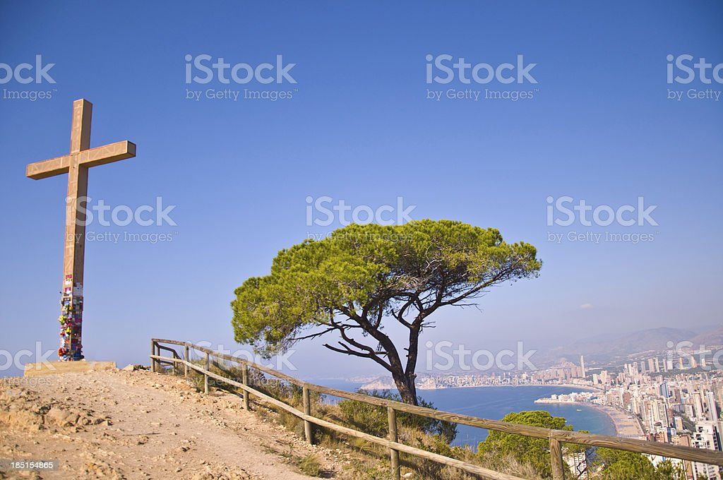 Cross of Benidorm stock photo