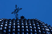 cross of forge on blue cupola