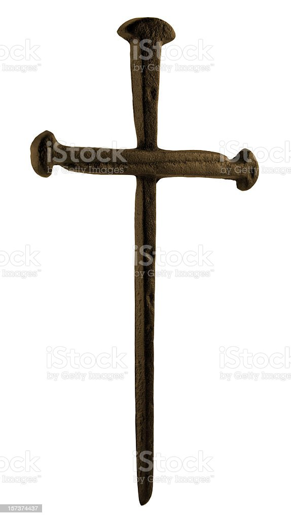 Cross of Nails royalty-free stock photo