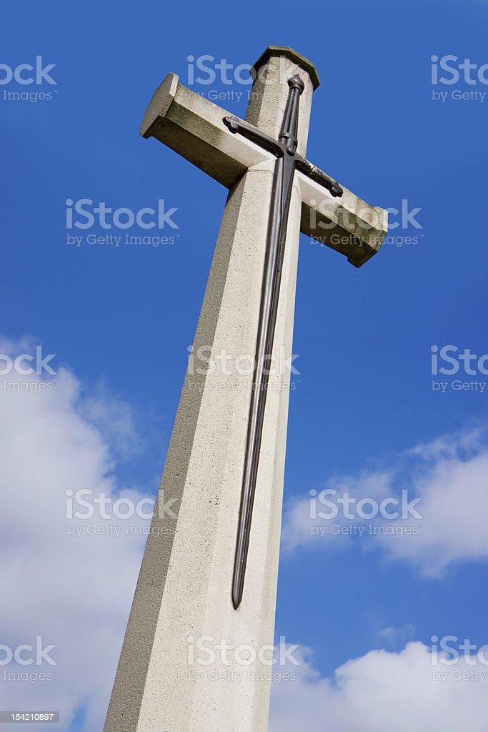 Cross of Sacrifice royalty-free stock photo