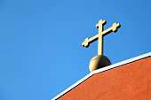 Cross of the church on the roof