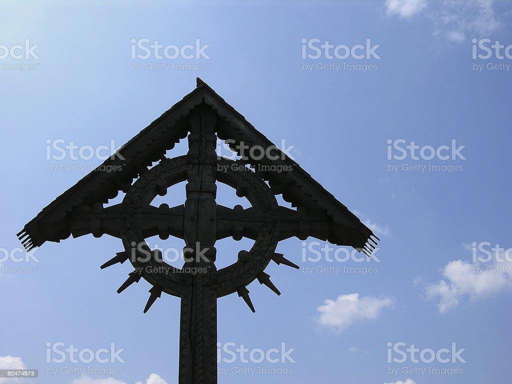 Cross On A Blue Sky royalty-free stock photo
