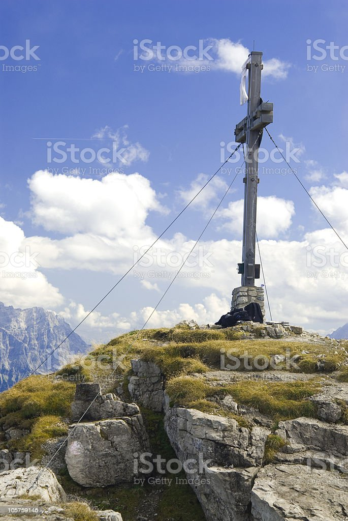 Cross on a mountain thaneller royalty-free stock photo