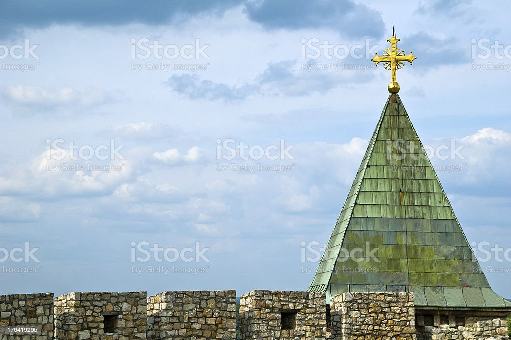 Cross on church royalty-free stock photo