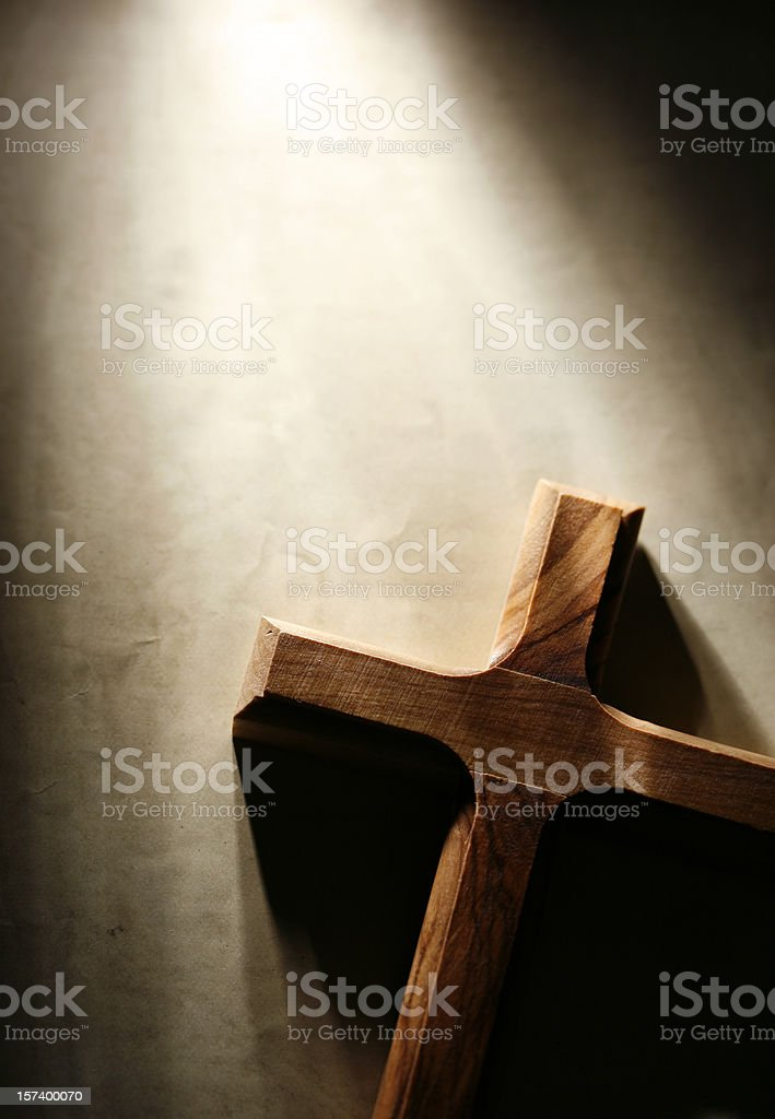 Cross on Grunge Background royalty-free stock photo