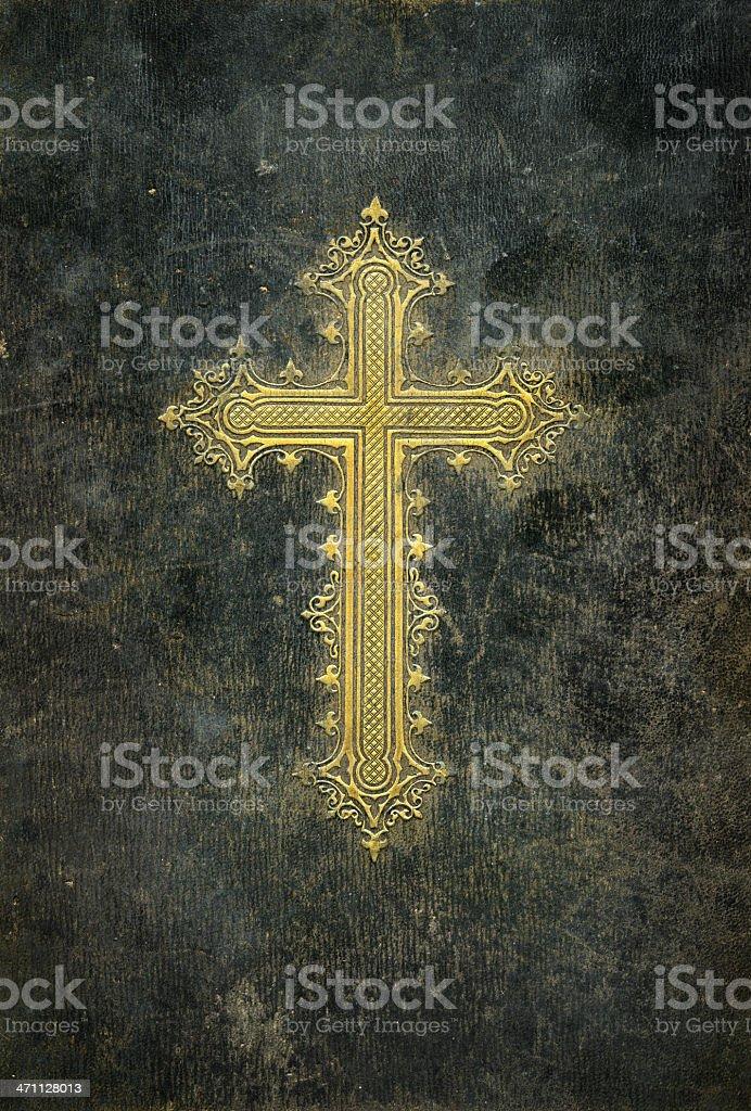 Cross on grunge background royalty-free stock photo
