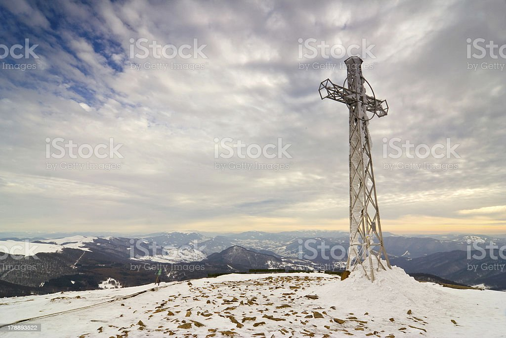 Cross on the top royalty-free stock photo