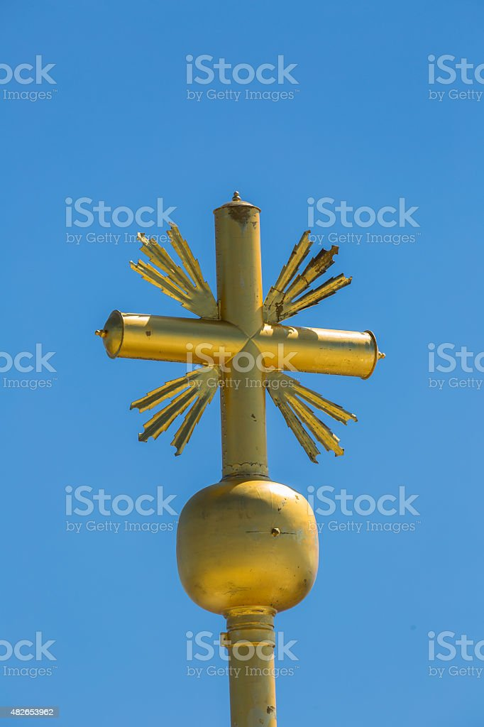 Cross on top of the Zugspitze stock photo