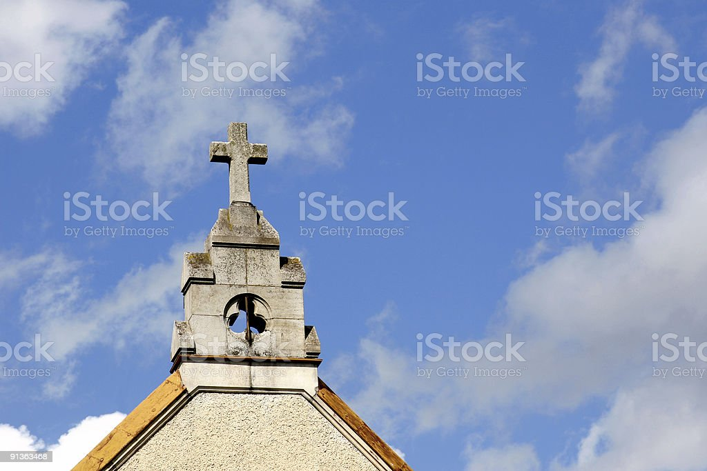 Cross over blue sky royalty-free stock photo