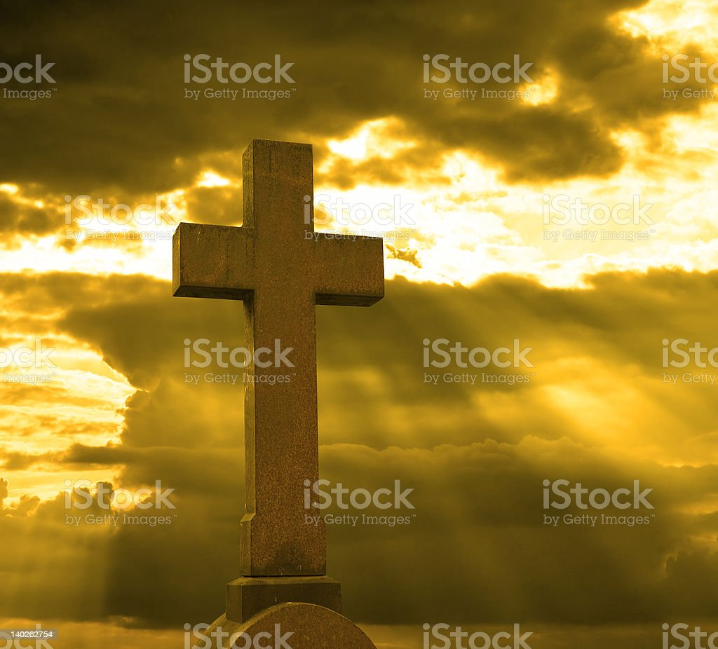 cross over cloudy sky royalty-free stock photo