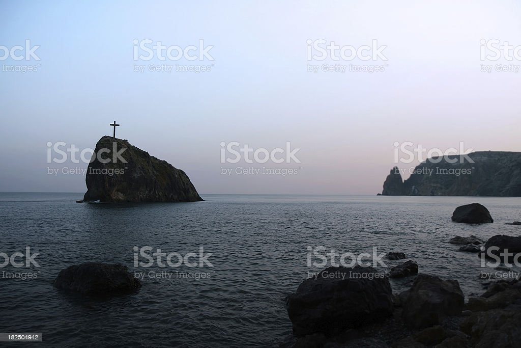 Cross Over Still Waters royalty-free stock photo