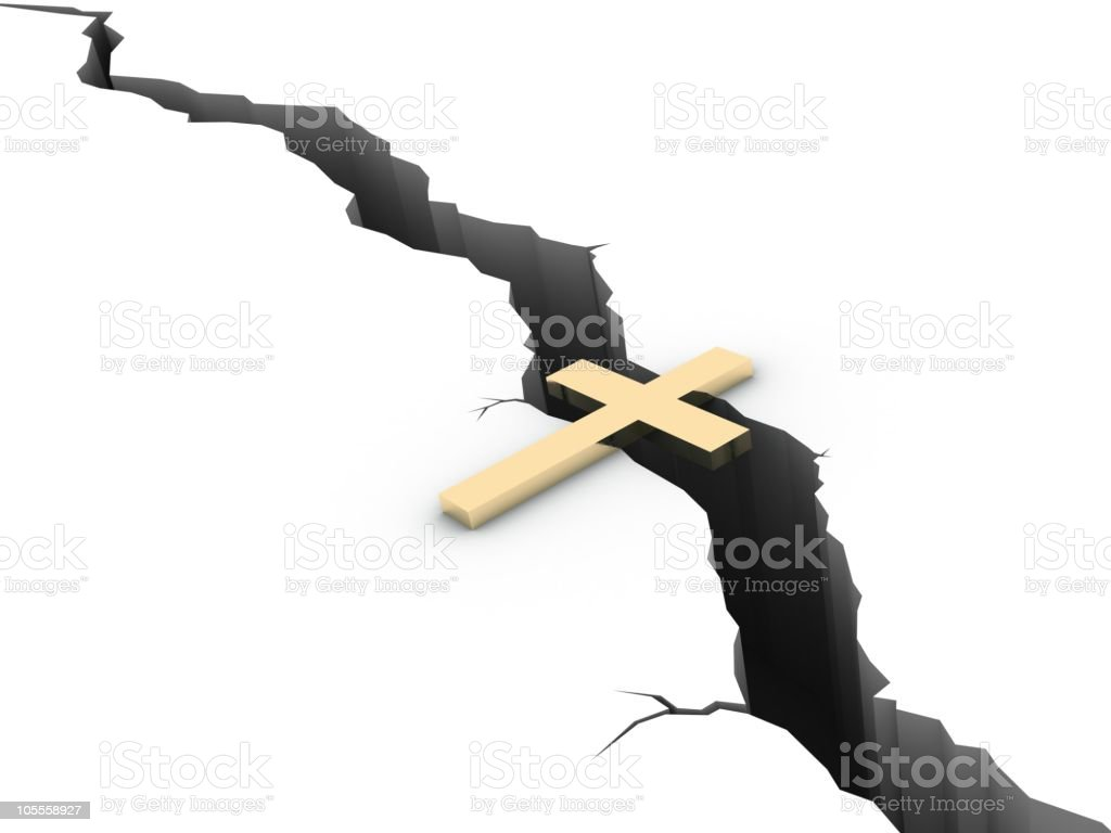 Cross over the Crisis royalty-free stock photo