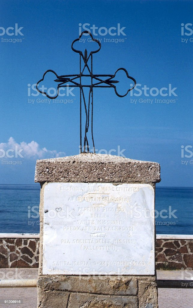cross over the ocean royalty-free stock photo