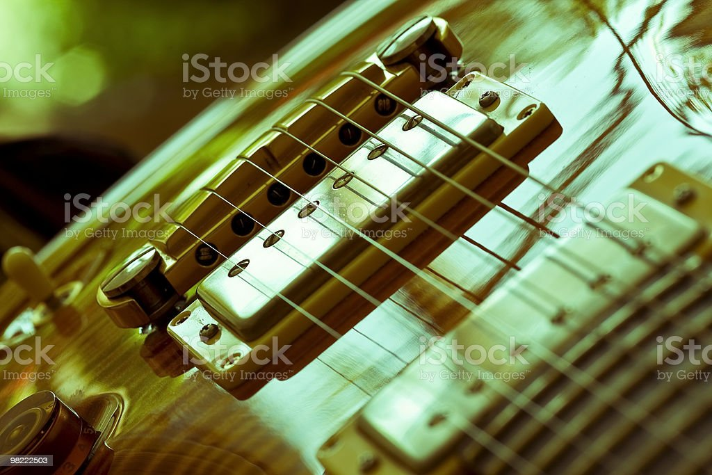Cross Processed view of a PRS guitar royalty-free stock photo