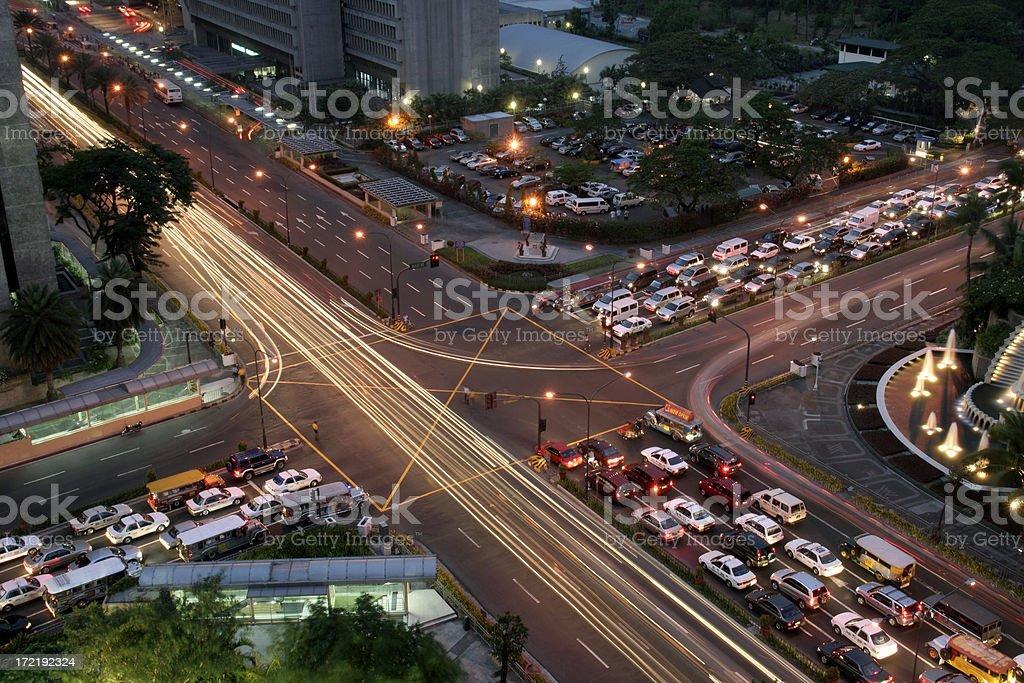 Cross Roads - Manila royalty-free stock photo