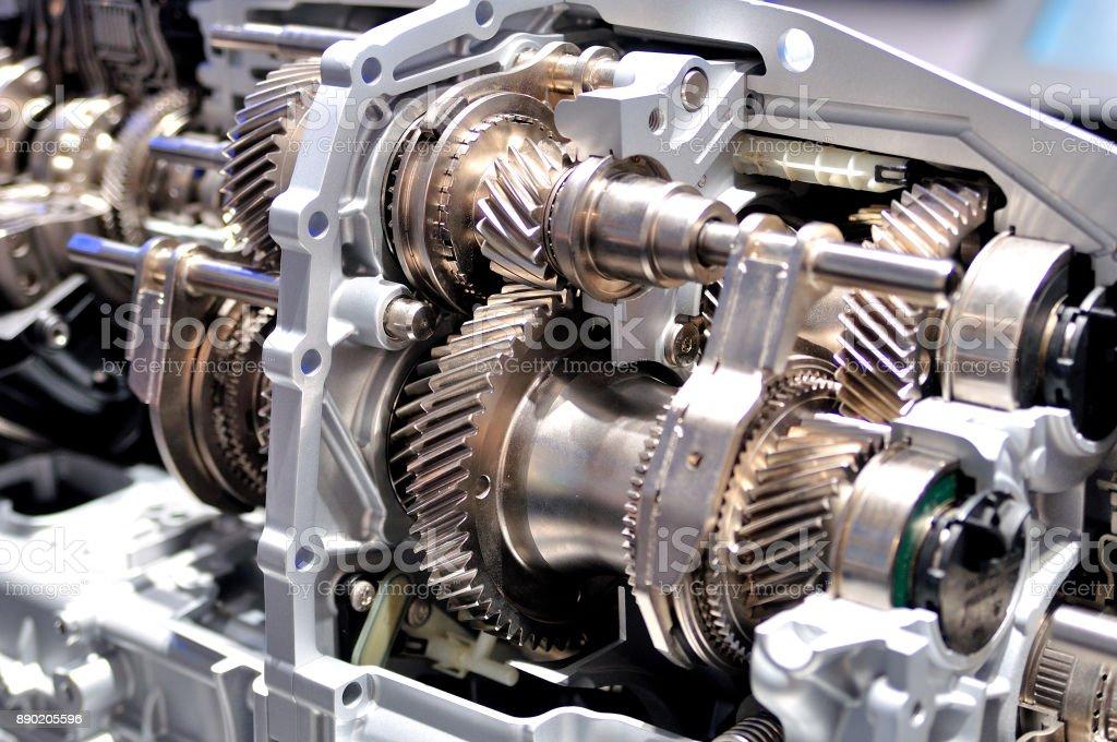 Querschnitt eines PKW-Getriebes. – Foto