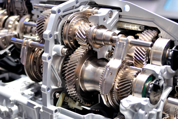 Cross section of a car gearbox. Cross section of a car gearbox. gearshift stock pictures, royalty-free photos & images