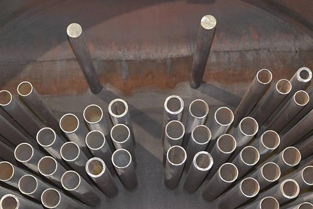 Cross section of an industrial boiler - foto de acervo