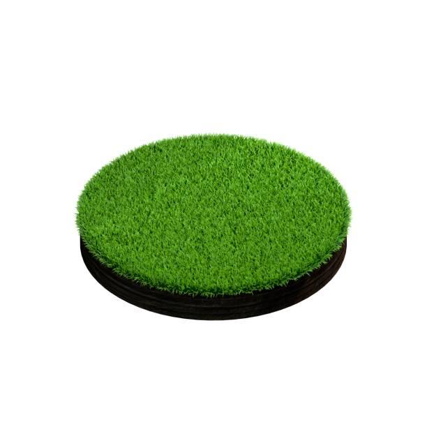 Sección de tierra con hierba. Aislado sobre fondo blanco. - foto de stock