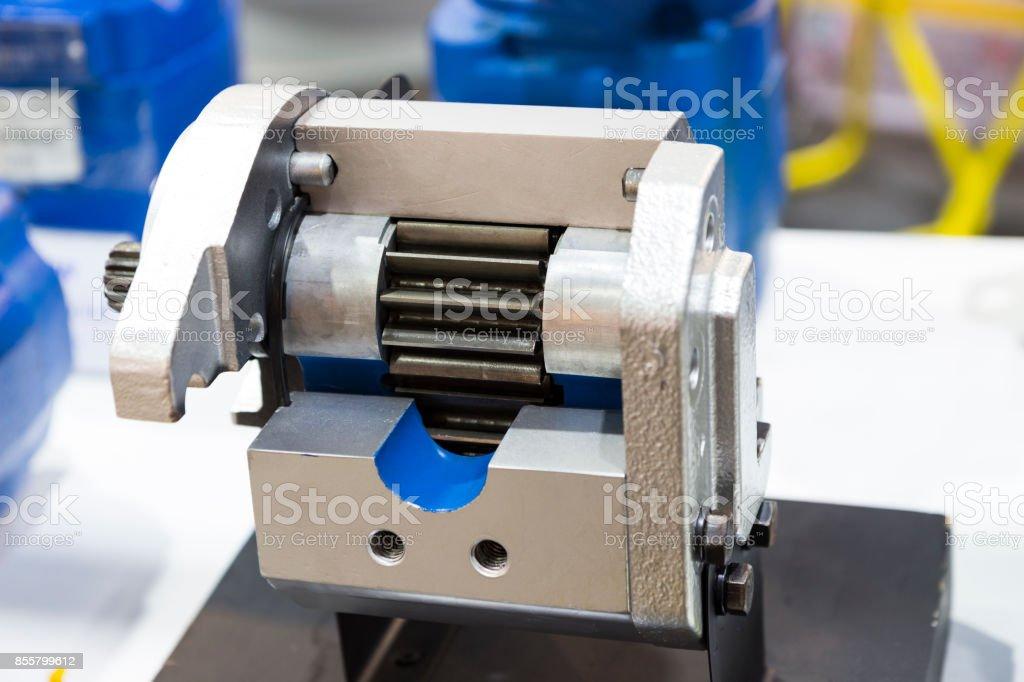 Cross Section of  piston pump stock photo