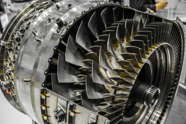 cross section of turbofan jet engine - silnik odrzutowy zdjęcia i obrazy z banku zdjęć