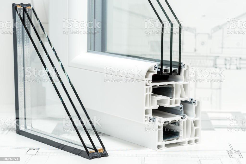 Fenster Dreifachverglasung einen querschnitt der fenster profile design pvc für fenster