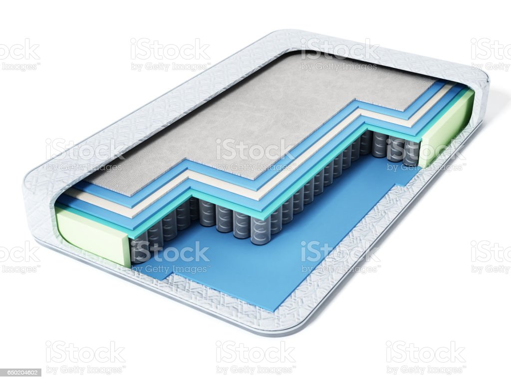 Cross Section View Of A Modern Bed Stock Photo Download Image Now Istock