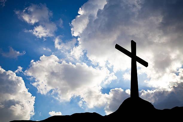 Kreuz silhouette – Foto