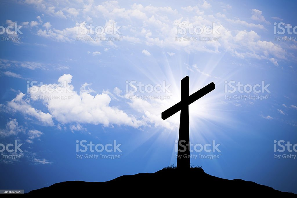 cross silhouette stock photo